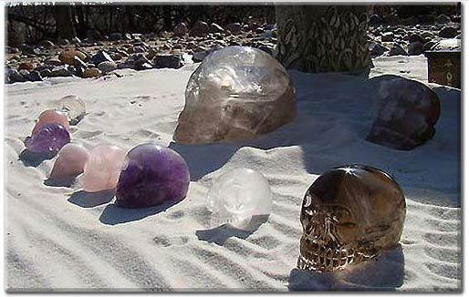 Crystal Skulls that have claimed the Crystal Skull Explorers as their guardians