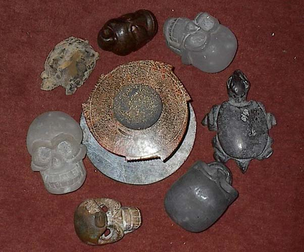 Star Disc Pattern of crystal skulls (Mongolian) which belong to Allayah